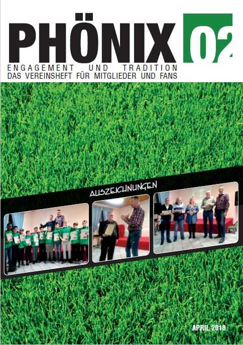 Vereinsheft April 2018 MFC Phönix 02 Cover